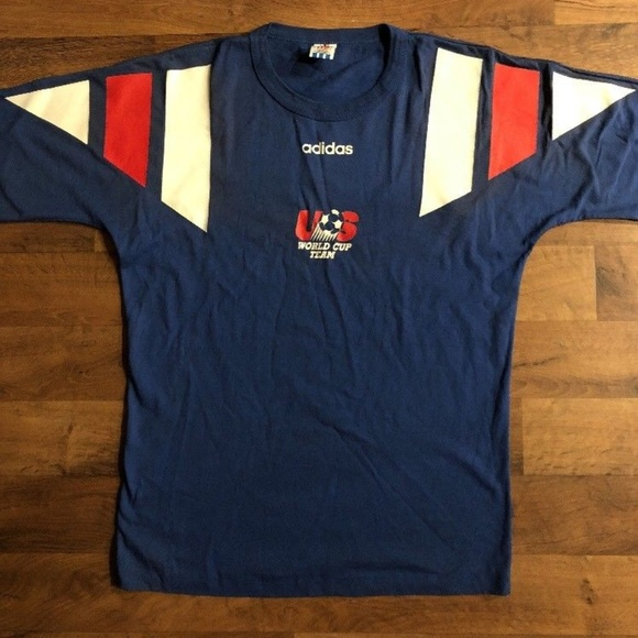 52a3e0441 adidas Shirts | Vintage 90 Us Team World Cup Tshirt Large | Poshmark